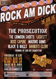 Rock am Dick 2015 Flyer